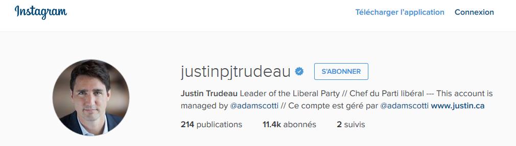 instagram justin trudeau