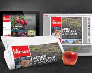 la fin du journal La Presse version papier